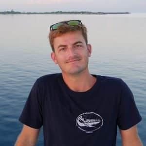 Franz Barth, moniteur en croisière plongée avec OK Maldives