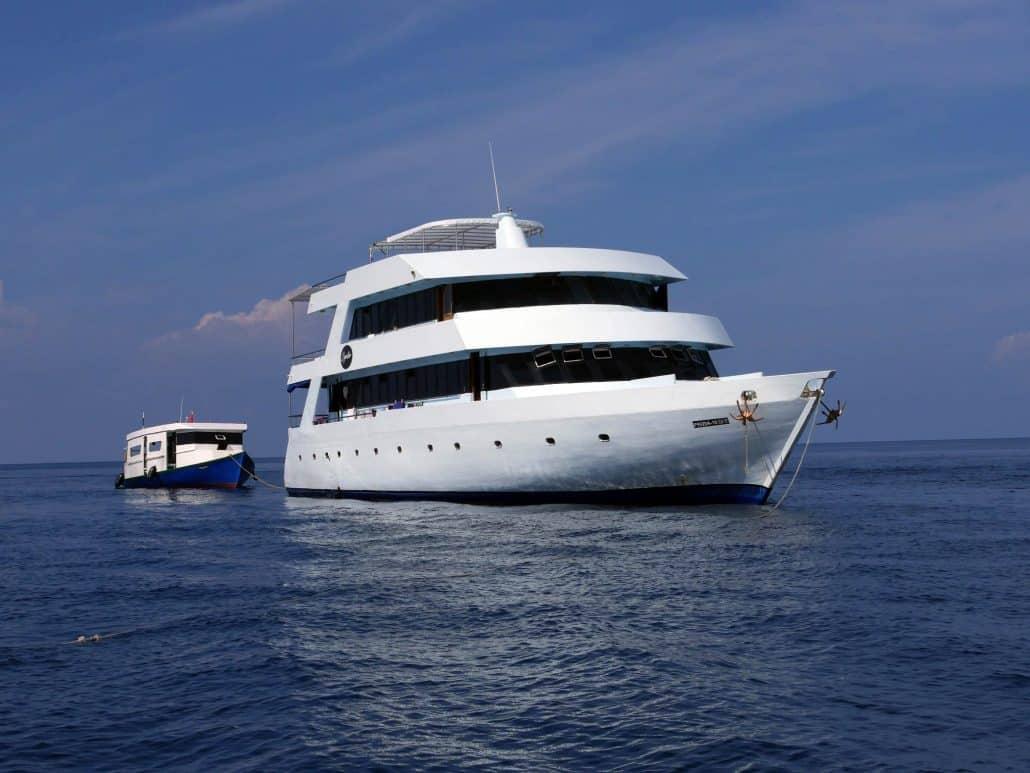 Vue du bateau de croisière plongée OK Maldives