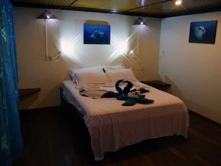 Suite du bateau en croisière plongée avec OK Maldives