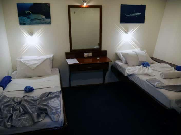 Cabine du bateauen croisière plongée avec OK Maldives