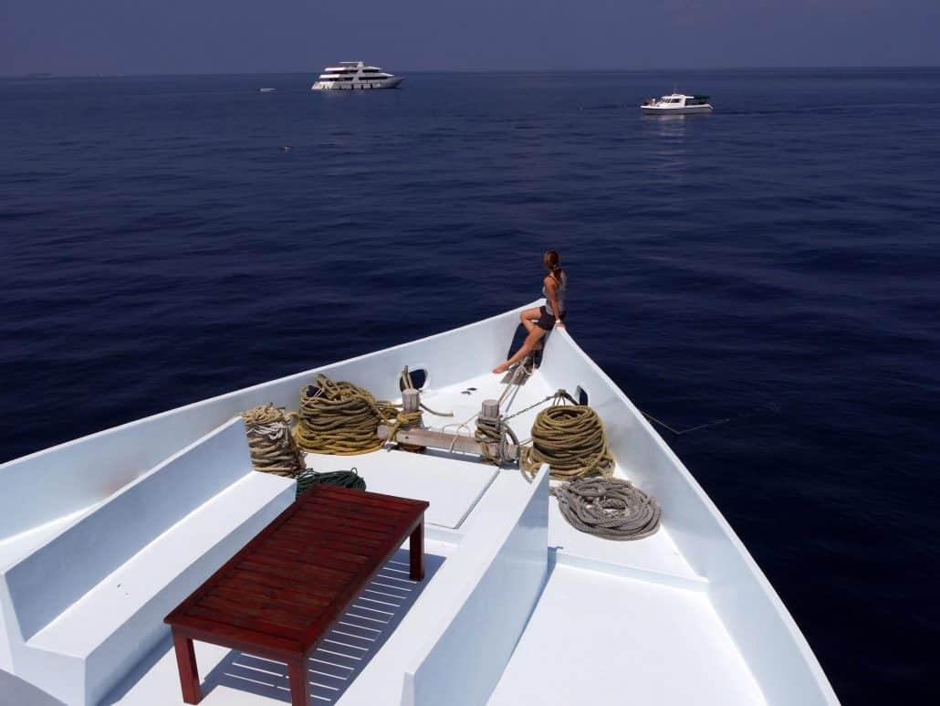 Equator en plein soleil en croisière plongée avec OK Maldives