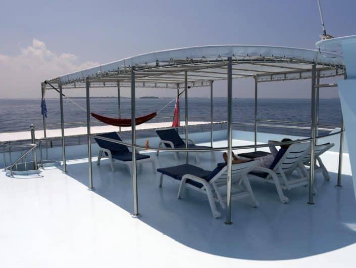 Endroit tranquille et agréable en croisière plongée avec OK Maldives