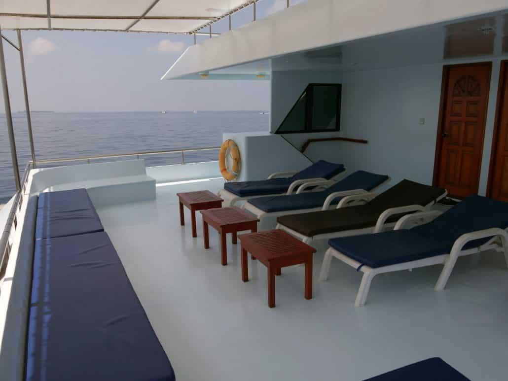 Le calme et le confort en croisière plongée avec OK Maldives