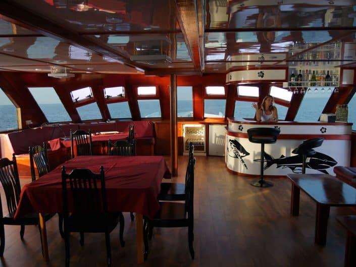 le salon de l'Equator en croisière plongée avec OK Maldives